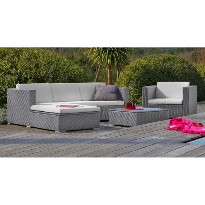 Salon de jardin resine cdiscount royal sofa id e de for Canape de jardin solde